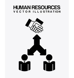 human resources design vector image