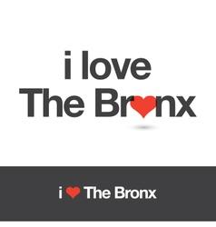 I love bronx vector