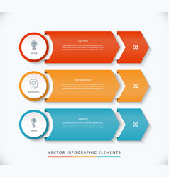 infographic design template with 3 arrows vector image