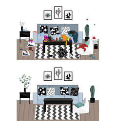 Interior when party is over vector