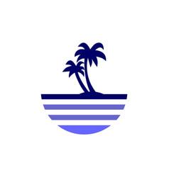 Island archipelago beach abstract logo icon vector