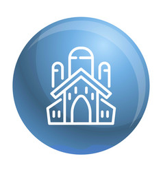 Jewish church icon outline style vector
