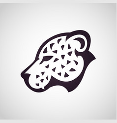leopard logo icon design vector image