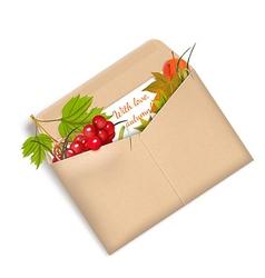 Letter autumn vector
