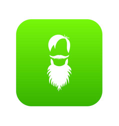 male avatar with beard icon digital green vector image
