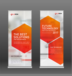 Medical roll up vertical banner design layout vector