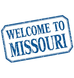 Missouri - welcome blue vintage isolated label vector