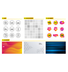 money diagram report and investment graph icons vector image