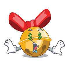 Money eye christmas jinggel bell balls with vector