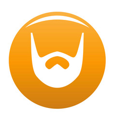 Neat beard icon orange vector