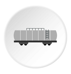 Oil railway tank icon circle vector