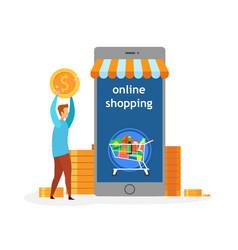 Online shopping application vector