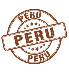 Peru stamp vector