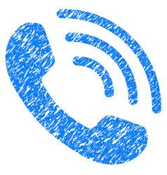 Phone call grunge icon vector
