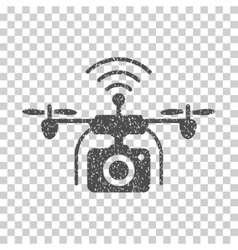 Radio Camera Drone Grainy Texture Icon vector