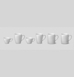 realistic coffee mug blank ceramic white cup vector image