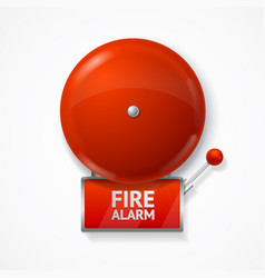 realistic detailed 3d red school fire or alarm vector image