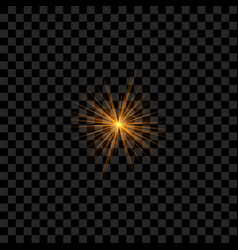 Realistic sparkle or star vector