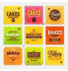 Retro Bakery Label vector image