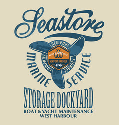 sea store marine nautical service vector image