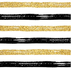 seamless brush stroke pattern gold vector image