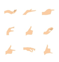 set of woman hands in various vector image