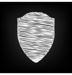 Shield sign Scribble effect vector image