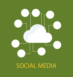 Social media icons cloud with place for social vector
