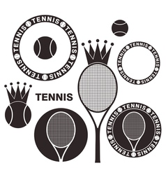 Tennis Set vector image