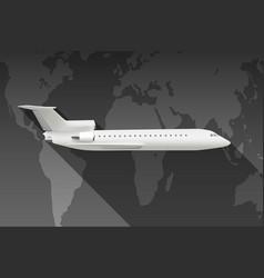 travel world plane vector image