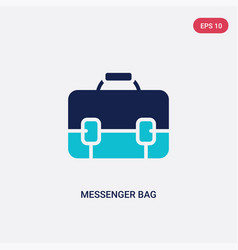 two color messenger bag icon from clothes concept vector image