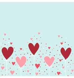 Valentine hand drawing background vector image
