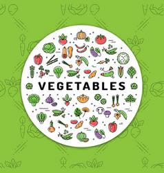 Vegetables banner fresh vegetarian food veggie vector