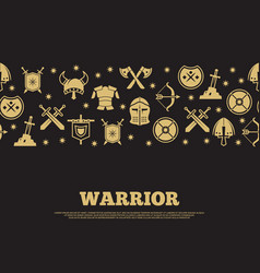 Vintage warrior background with mediewal knights vector