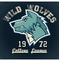 Wild wolves sports mascot vector image