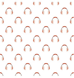 Winter fur earmuffs pattern vector