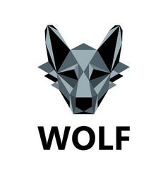 wolf as logo design vector image
