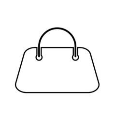 woman bag black color icon vector image