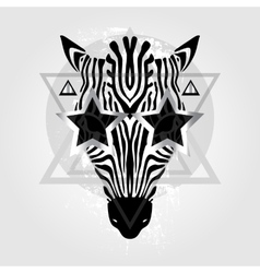 Zebra head Tribal pattern vector