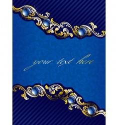elegant gold and blue background vector image