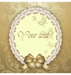 gift card with silk ribbon place for text vector image vector image