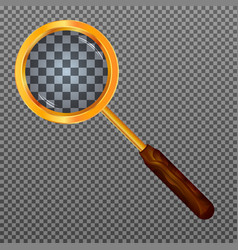 gold magnifier vector image