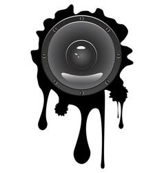 Grunge Audio Speaker vector image