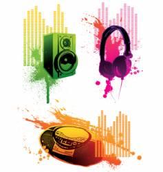 grunge loudspeaker vector image vector image