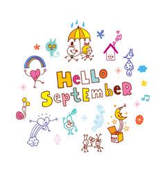 hello september vector image