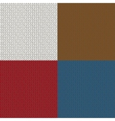Seamless knited patterns vector image