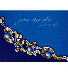 elegant gold vector image vector image