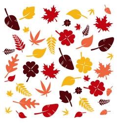 seamless colorful leaves background vector image vector image
