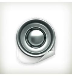 Snap fastener icon vector image