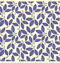 stylized violet leaves seamless pattern vector image